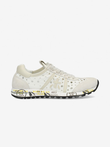 Premiata Soft Leather White Sneakers | LucyD