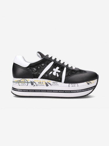 Premiata  Black Embroidery Sneakers | Beth