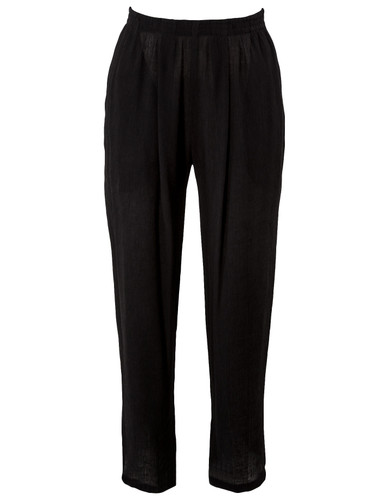 Black Fully Pleated  Cropped Trousers  | Isabella