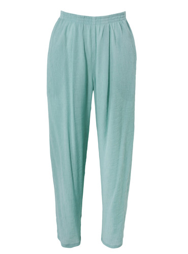 Mint Fully Pleated  Cropped Trousers  | Isabella