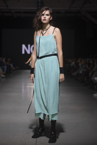 Mint Fully Pleated Long Top With Side Cuts | Fiona