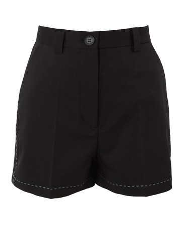 Black  Above The Knee Tailored Shorts  | Urzula