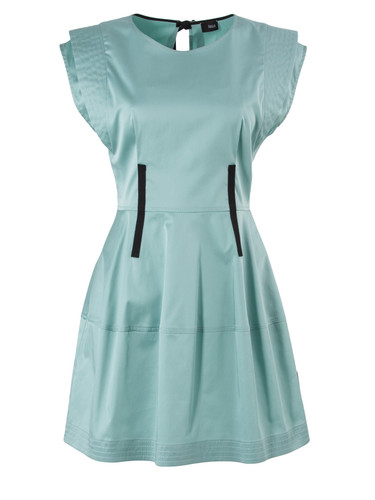 Mint Dress With Layered Shoulders | Jane
