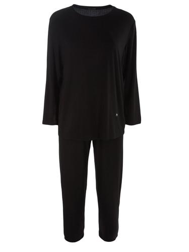 Black Jersey Viscose Loungewear Set   Elba