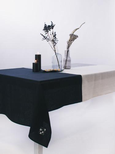 Multi Beige Color Block Tablecloth 132x224 cm  | Gaggan