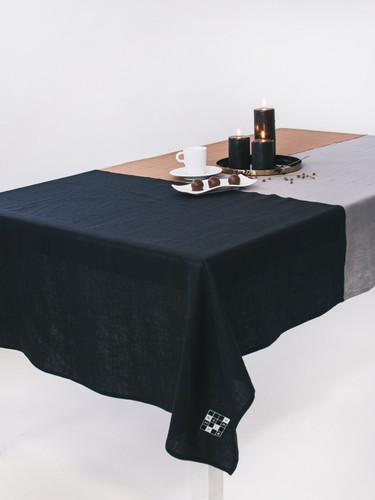 Multi Grey Color Block Tablecloth 132x224 cm  | Gaggan