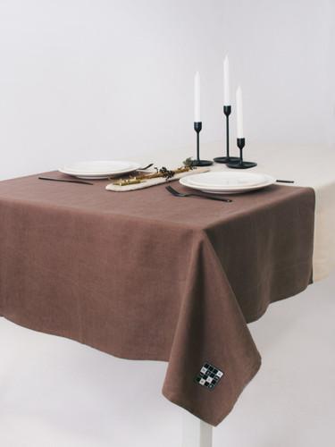 Multi Beige  Color Block Tablecloth 143 x 229 cm | Geranium
