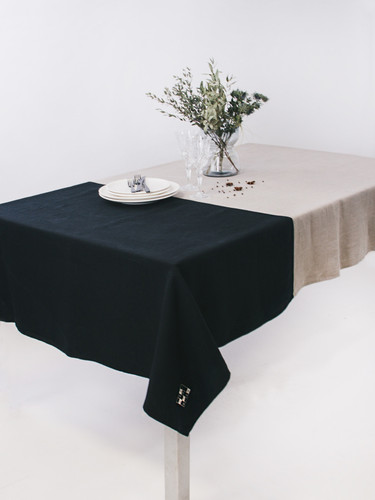 Multi Gray Color Block Tablecloth 142 x 226 cm | Geranium