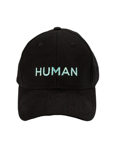 Black Cap With Embroidery | Human