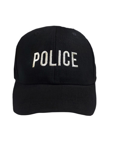 Black Cap With Silver Embroidery | Police