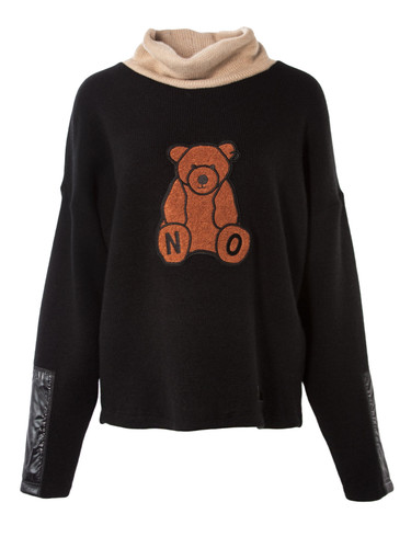 Nolo Bear Roll Neck Knitted Sweater | LACIS