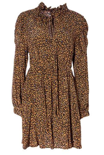 Printed  Long Sleeve  Skater Dress  | MARIA