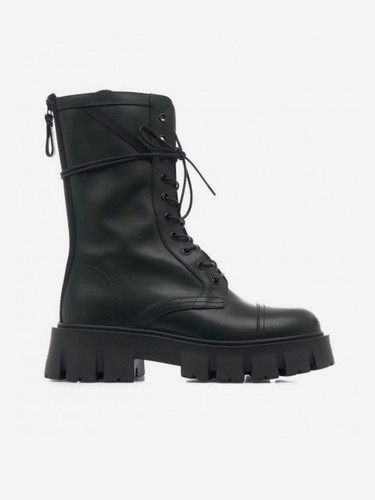 Premiata Black Leather Ankle Boot With Laces| 21FM6118