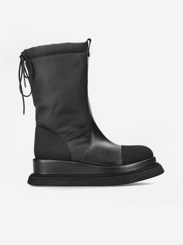 Premiata Black Panelled Drawstring Boots | 21FM6103