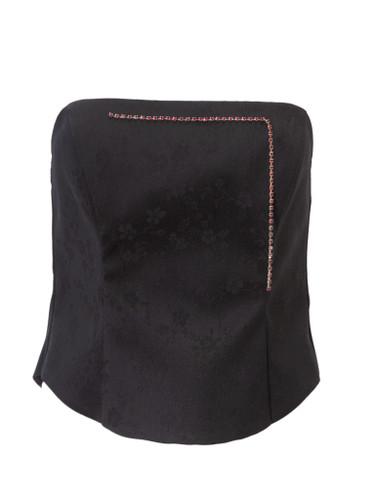 Black Boned Corsett With Zip Closure   CATHERINE