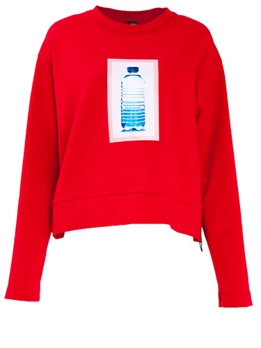 Red Sweatshirt With Print | Tamy