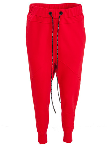 Red Sweat Jogging Pants With Low Crotch | Ella