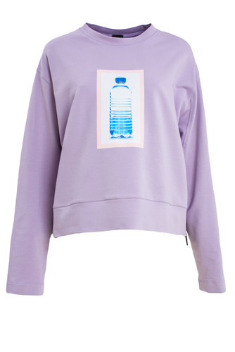 Lavender Sweatshirt Pullover With Print | Tamy