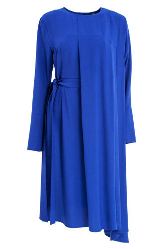 Cobalt Blue Asymmetric Midi Dress | Gabrielle