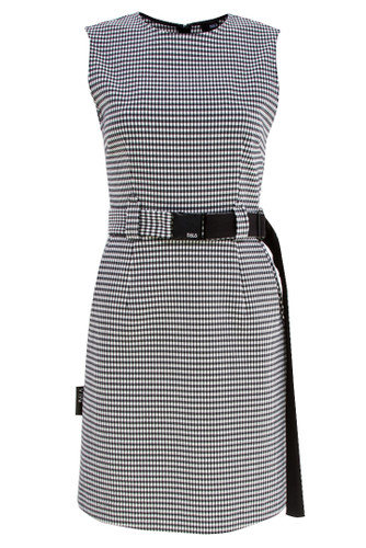 Black And White Buffalo Plaid Mini Dress | Julia