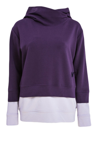 Lavender And Purple Two Tone Sweatshirt With Hood | Mikaela
