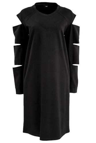 Black Long Sleeved Dress With Cutouts | Madison