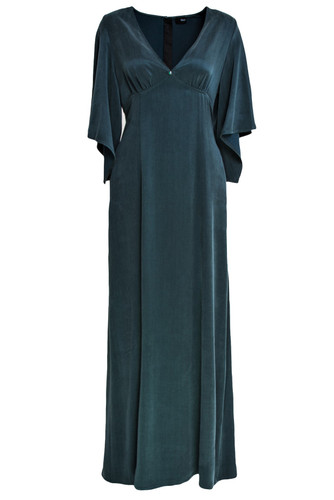Emerald Maxi Gown With Mantle Type Sleeves | Blaire
