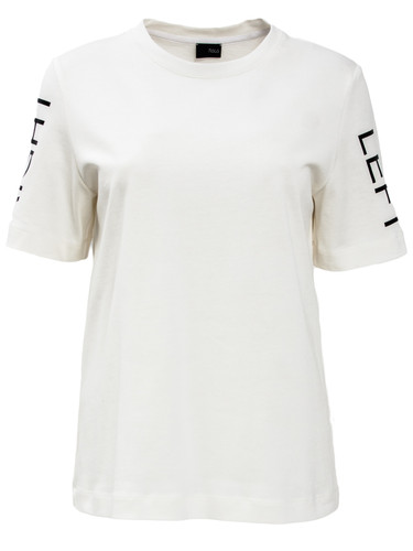 Ivory Heavy Jersey Regular Fit Top With Print | Mia