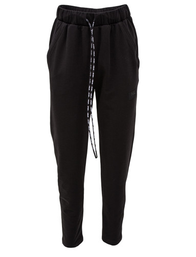 Black Sweat Track Pants With Pockets And Logo   Ulla