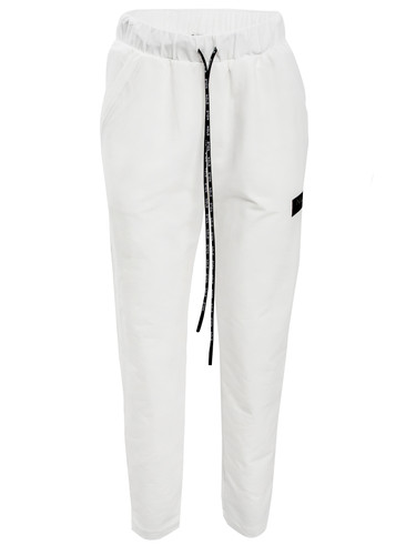 Ivory Regular Fit Sweat Track Pants With Logo | Ulla
