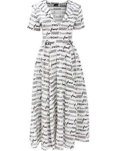 White Printed Sun Cut Midi Dress With Hood | Verity