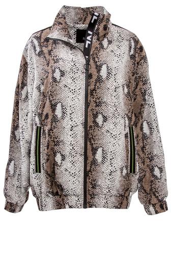 Snake Full Zip Bomber Jacket With Branded Inner Placket | Jete