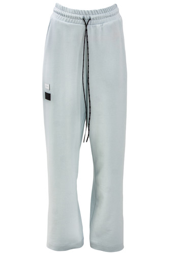 Baby Blue Sweat Oversized Track Pants With Elastic Waist Band | Inna