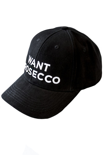 Black Cotton Baseball Cap With Embroidery | Prosecco