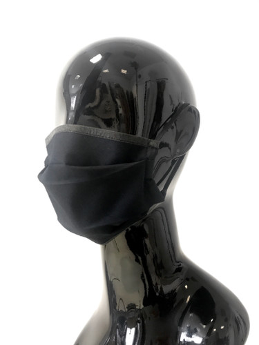 """Black Two Layer """"Anti #COVID19"""" Reusable Face Mask 