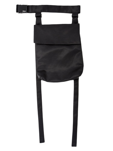 Black Fabric Belt Bag With Straps | Brie
