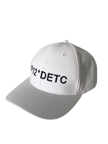 White Cotton Baseball Flex Hat With Embroidery | P12