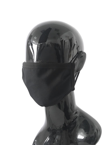 Black Summer Cotton Jersey Two Layer Travel Face Mask | Summer