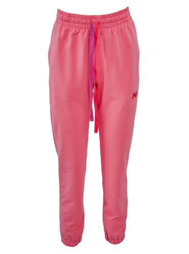 Pink Sweat Track Pants With Two Color Ribbons | Alla