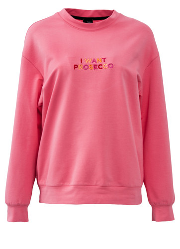 Pink Regular Fit Sweatshirt With Embroidery   Arianna