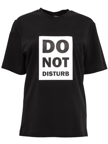 Black Regular Fit T-Shirt With Print | Dont