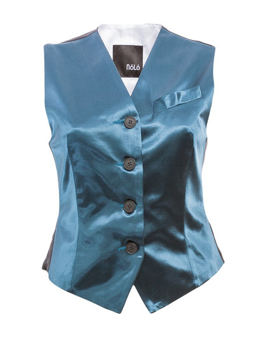 Exclusive Petrol Green Tailored Classic Vest | Kira