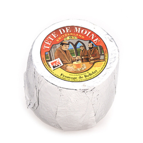 Swiss Cheese Tete de Moine 1.8 lb Full Round.