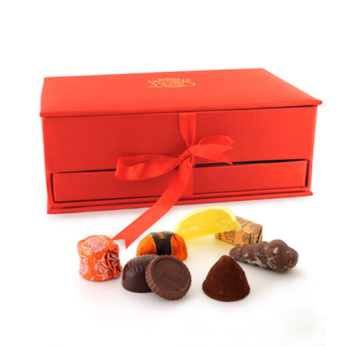 Leonidas assorted chocolate in jewelry box