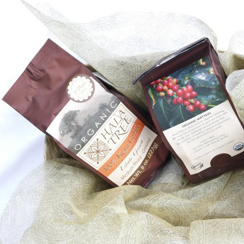 Hawaiian Kona .coffee beans whole roasted