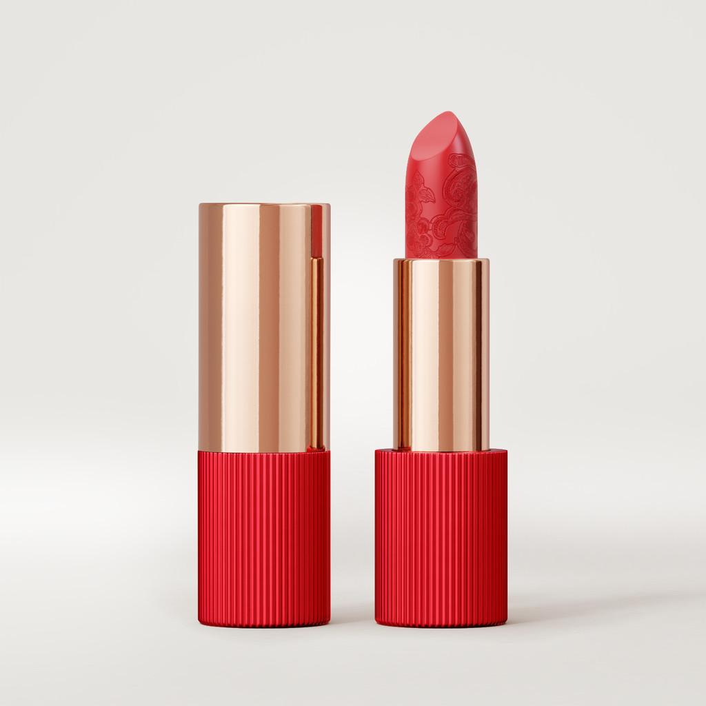 Matte Silk Lipstick | Coral Red