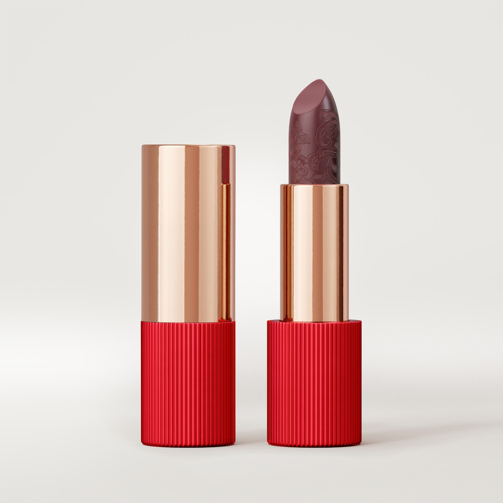 Matte Silk Lipstick | Plum Red