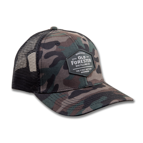 Old Forester Camouflage Trucker Hat