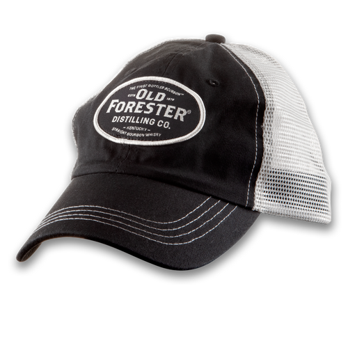 Old Forester Distressed Black & Cream Hat
