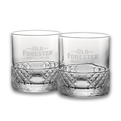 Old Forester Double Old Fashioned Glass (Set of 2)